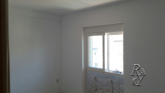 Insulated walls with plasterboard. Spain, Murcia, Mar Menor.